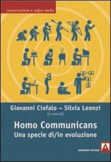 Homo communicans. Una specie di/in evoluzione - copertina