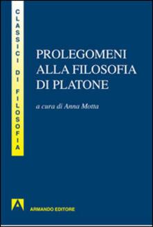 Prolegomeni alla filosofia di Platone - copertina