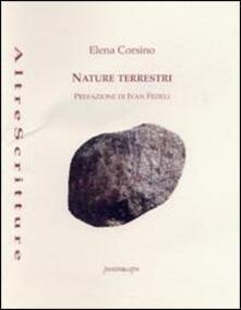 Nature terrestri - Elena Corsino - copertina
