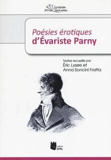 «Poésies érotiques» d'Évariste Parny - copertina