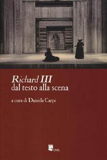 «Richard III» dal testo alla scena - copertina