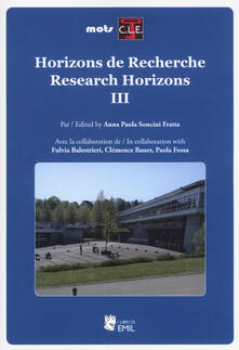Horizons de recherche-Research horizons. Ediz. multilingue. Vol. 3 - copertina