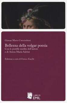 Bellezza della volgar poesia - Giovan Mario Crescimbeni - copertina