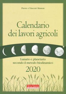 Antondemarirreguera.es Calendario dei lavori agricoli 2020. Lunario e planetario secondo il metodo biodinamico Image