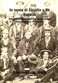 In nome di Ciccillo o rè nuostro. Briganti e brigantaggio nel tenimento di Goja Sannitica 1860-1880 - Sandrino L. Marra - copertina