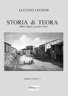 Storia di Teora. Dalle origini ai giorni nostri