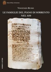 Le famiglie del Piano di Sorrento nel 1650 - Vincenzo Russo - copertina