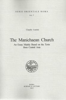 The manichaen church an essay mainly based on the texts from central Asia - Claudia Leurini - copertina