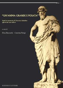"""""""Un'anima grande e posata"""". Studi in memoria di Vincenzo Saladino offerti dai suoi allievi - copertina"""