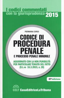 Ascotcamogli.it Codice di procedura penale e processo penale minorile Image