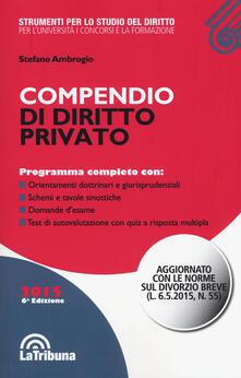 Compendio di diritto privato - Stefano Ambrogio - copertina