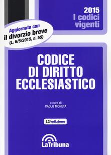 Codice di diritto ecclesiastico - copertina