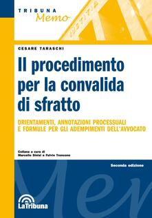 Il procedimento per la convalida di sfratto - Cesare Taraschi - copertina
