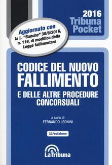Codice del nuovo fallimento e delle altre procedure concorsuali - copertina