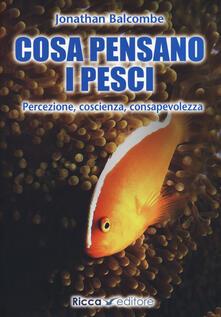 Premioquesti.it Cosa pensano i pesci. Percezione, coscienza, consapevolezza Image