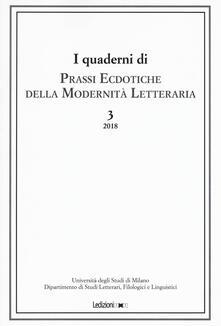 Promoartpalermo.it Prassi ecdotiche della modernità letteraria (2018). Vol. 3 Image