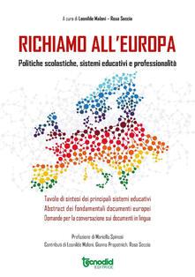 Ipabsantonioabatetrino.it Richiamo all'Europa. Politiche scolastiche, sistemi educativi e professionalità Image