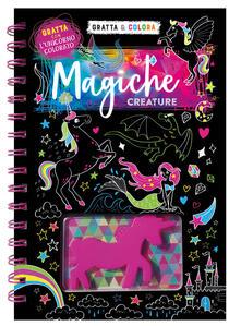 Magiche creature. Gratta & colora. Ediz. a spirale. Con gadget - Jake McDonald - copertina