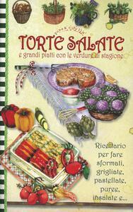 Torte salate e grandi piatti con le verdure di stagione. Pane e cipolla - copertina