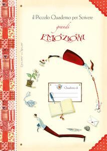 Il piccolo quaderno per scrivere grandi emozioni - copertina
