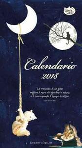 Il gatto e la luna. Calendario medio 2018 - copertina