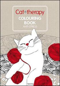 Cat therapy. Colouring book anti-stress - copertina