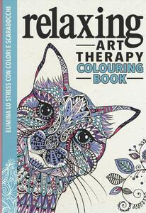 Art therapy. Relaxing. Colouring book - copertina