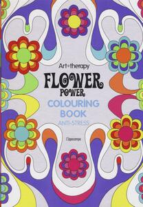 Art therapy. Flower power. Colouring book anti-stress - copertina