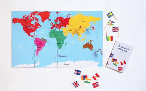 Il mio cofanetto Montessori delle bandiere del mondo. Con gadget - Ève Herrmann - 2