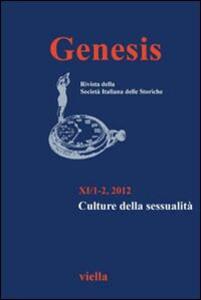 Genesis. Rivista della Società italiana delle storiche (2012) vol.1-2.: Culture della sessualità - copertina