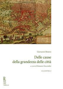 Delle cause della grandezza delle città - Giovanni Botero - copertina