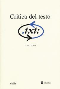 Critica del testo. Vol. 17\2 - copertina