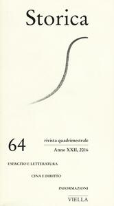 Storica (2016). Vol. 64
