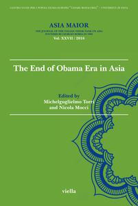 Asia maior (2016). Vol. 27: end of Obama Era in Asia, The. - copertina