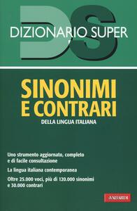 Dizionario sinonimi e contrari della lingua italiana - copertina