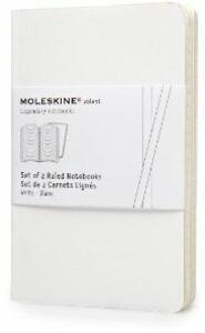 Moleskine Volant Notebooks pocket a righe White