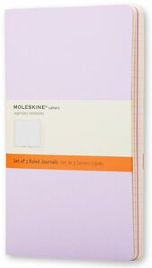 Cartoleria Taccuino Cahier Moleskine pocket a righe Tris pastello. Set da 3 Moleskine 0