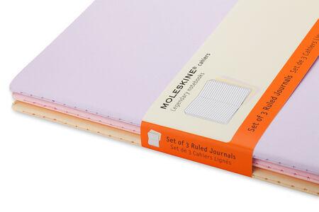 Cartoleria Taccuino Cahier Moleskine pocket a righe Tris pastello. Set da 3 Moleskine 3