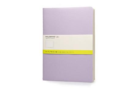 Cartoleria Taccuino Cahier Moleskine extra large a pagine bianche Tris pastello Moleskine
