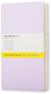 Cartoleria Taccuino Cahier Moleskine pocket a quadretti Tris pastello. Set da 3 Moleskine 0