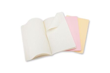 Cartoleria Taccuino Cahier Moleskine pocket a quadretti Tris pastello. Set da 3 Moleskine 1