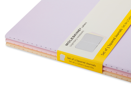 Cartoleria Taccuino Cahier Moleskine pocket a quadretti Tris pastello. Set da 3 Moleskine 3