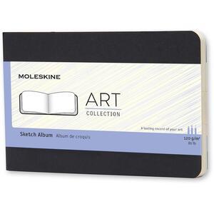 Album per schizzi Art Sketch Album Moleskine pocket copertina rigida nero. Black
