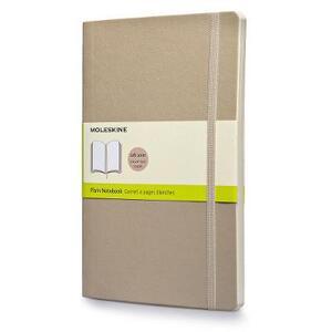 Taccuino Moleskine large a pagine bianche copertina morbida