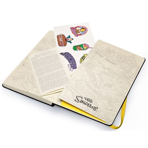 Cartoleria Taccuino Moleskine large a pagine bianche. I Simpson copertina rigida Moleskine 2