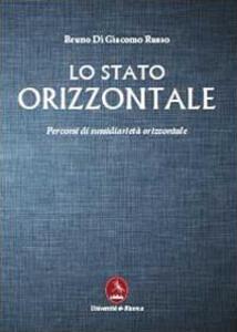 Lo stato orizzontale - Bruno Di Giacomo Russo - copertina