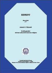 Profili giuridici dei beni culturali di... - Antonio G. Chizzoniti - copertina