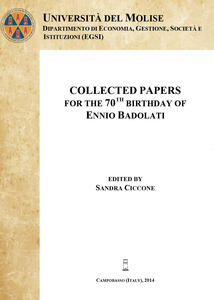 Collected papers for the 70th birthday of Ennio Badolati - Sandra Ciccone - copertina