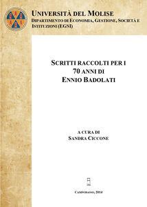 Scritti raccolti per i 70 anni di Ennio Badolati. Vol. 1