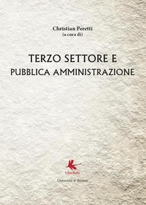 Terzo settore e pubblica amministrazione - Christian Peretti - copertina
